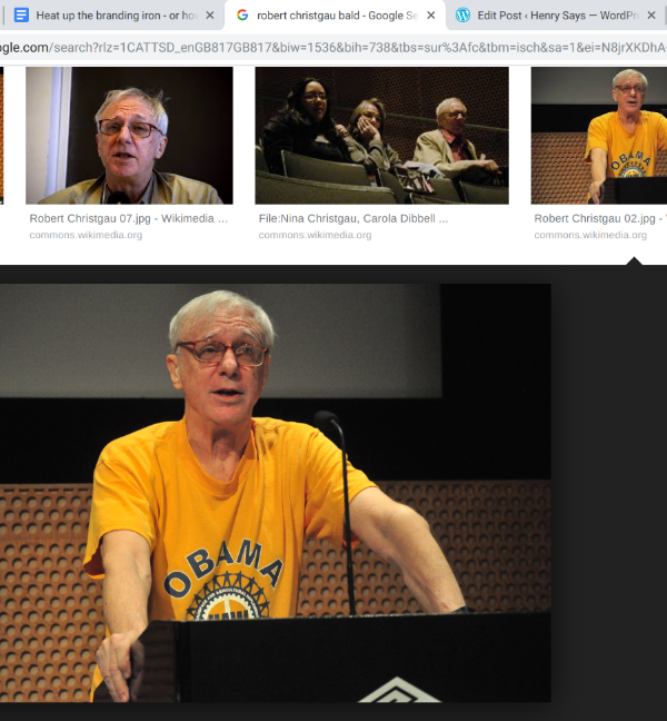 Robert Christgau almost bald